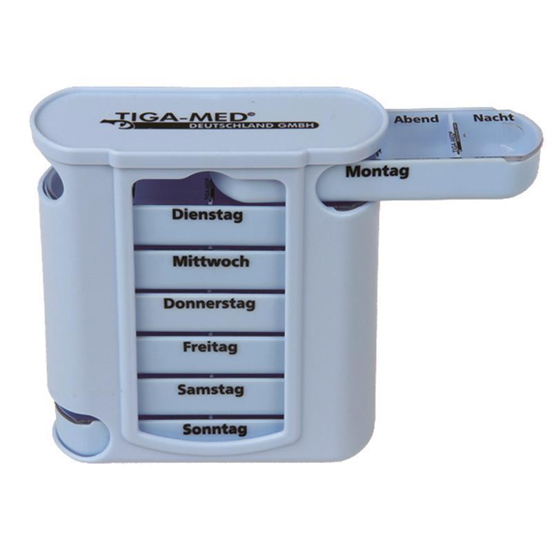 medikamentenbox wochendispenser 7 tage tablettenbox orig tiga med 4051054040012 ebay. Black Bedroom Furniture Sets. Home Design Ideas